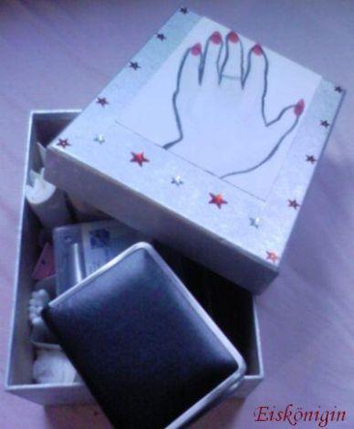 ordnungskiste f r meine nagelsachen basteln handarbeiten. Black Bedroom Furniture Sets. Home Design Ideas