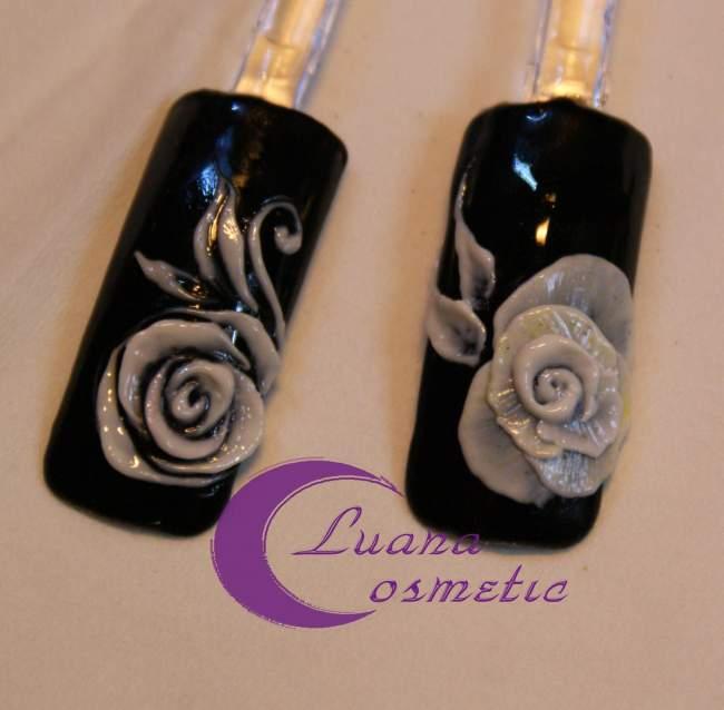 bild einmal meine rosen mit 3d gel nageldesign modellage anleitungen. Black Bedroom Furniture Sets. Home Design Ideas