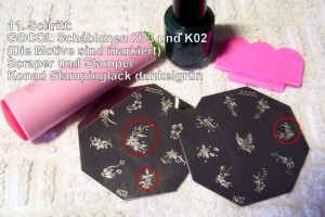 11. Stampingmaterial Step by Step Tiger Anleitung in Nageldesign