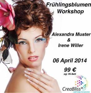 """Workshop Nail Art nach Gummersbach am 6.4.2014 von 10:00 Uhr bis 15:00 Uhr """"Estetik"""" - Soest & CreaBliss in Online-Shop"""