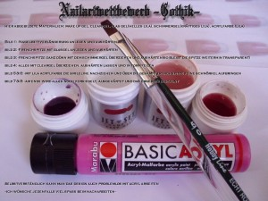 Anleitungen Gothic-Nails in Nageldesign & Modellage Anleitungen