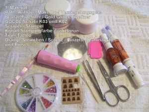 1. Material Step by Step Tiger Anleitung in Nageldesign