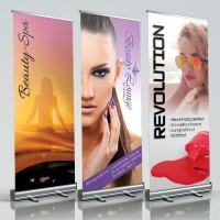Roll-Up Banner Nagelstudiowerbung - Drucksachen & Werbeartikel in Marketing