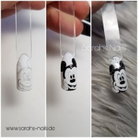 Mickey Mouse Anleitung Mickey Mouse in Nageldesign