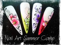 One Stroke Fingernägel bunt Nail Art Summer Camp in 53578 in Nailart Kurse
