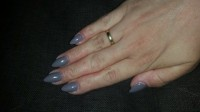 Gelmodellage full cover taupe Gel Stiletto full cover taupe in Anfänger Nageldesign