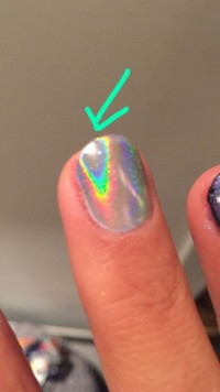 Hologramm blättert ab :( Hologramm blättert ab in Nagelmodellagen