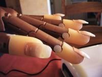 Bild 3 seitlich Modellage mit dem Nailtrainer in Anfänger Nageldesign