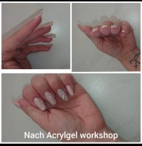 Erster versuch mit Workshop Lyni Acrylgel Workshop in Nailart Kurse