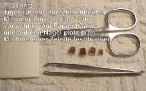 7. Tattoos Step by Step Tiger Anleitung in Nageldesign