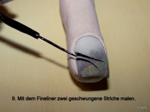 Autumn-Art - Herbstliches Skelettblatt Design in Nageldesign & Modellage Anleitungen