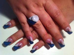 Acryl Nägel und Ring gel auf acryl in Fiberglas