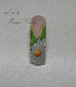3. Frenchnägel, 3d , acryl, farbe 3D Floral french in Nageldesign