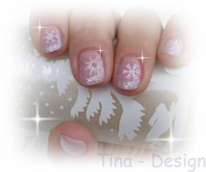 "Winterdesign Strahlsterne Mein Nagelstudio vor der sogenannten Pleite""retten in Marketing"